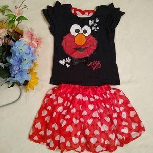 Elmo dress for girls